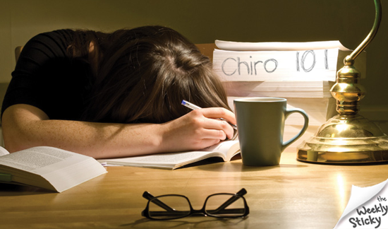 There's No Cramming In Chiropractic…