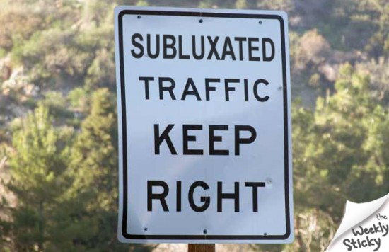 Subluxated Traffic Sign